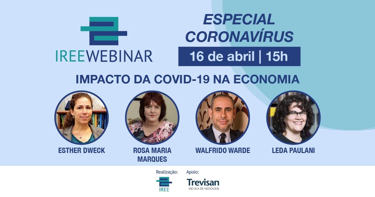 IREE Webinar – Impacto da COVID-19 na economia