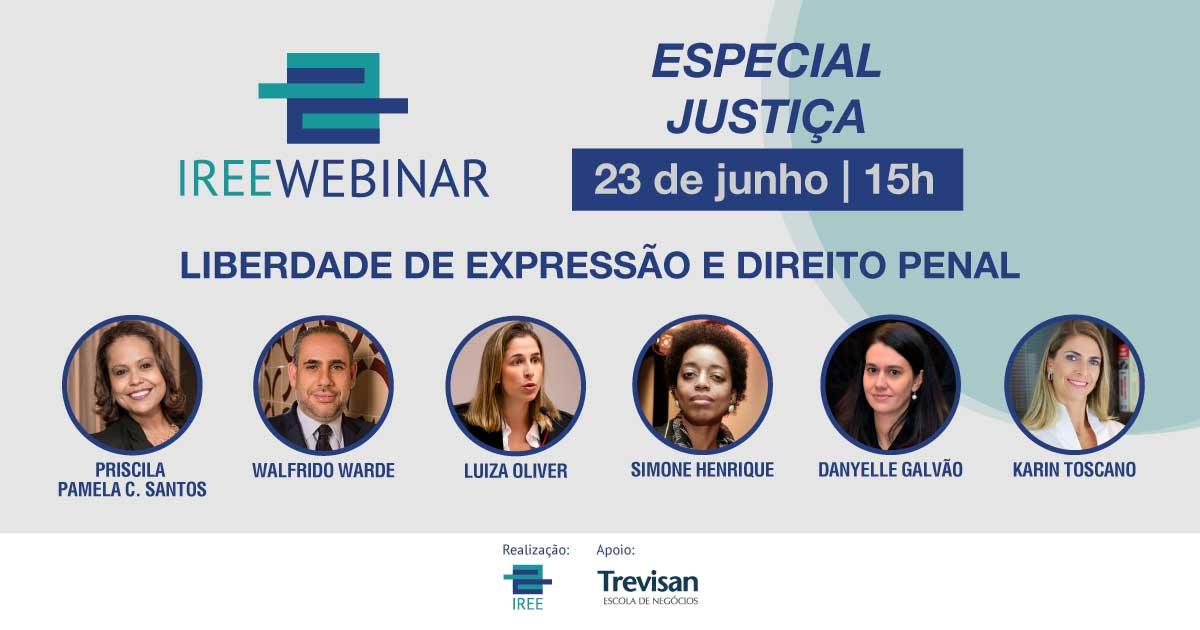 IREE Webinar – Liberdade de expressão e Direito Penal