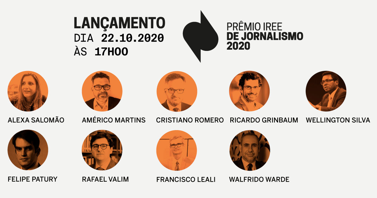 Live com os jurados: Conheça o Prêmio IREE Jornalismo 2020