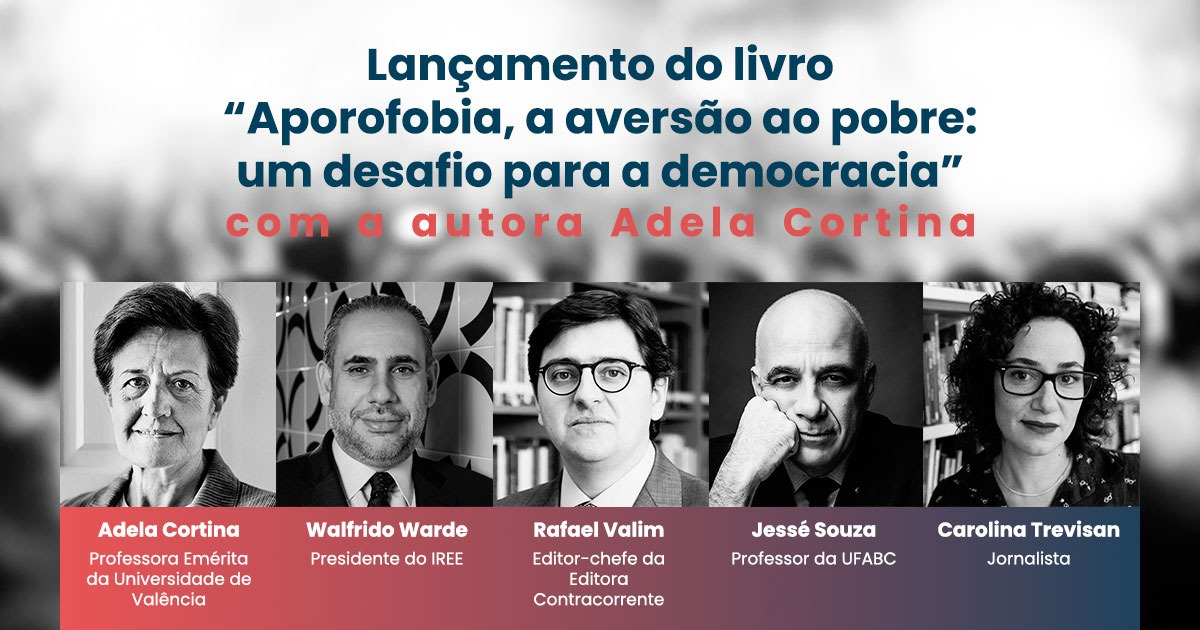 """Lançamento do livro """"Aporofobia"""", com a autora Adela Cortina"""