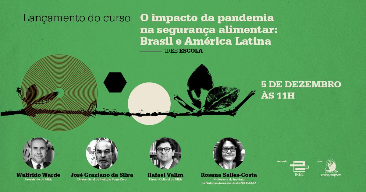 """Lançamento do curso """"O Impacto da Pandemia na Segurança Alimentar"""""""