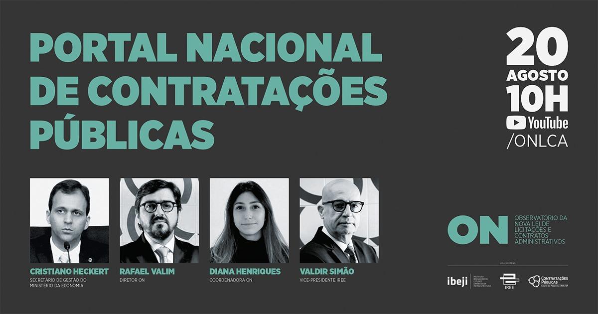 Live do ON: Portal Nacional de Contratações Públicas